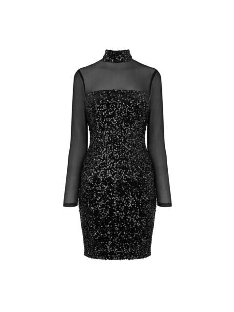 a23470c7 Sheer Sequin Panel Dress | Endource