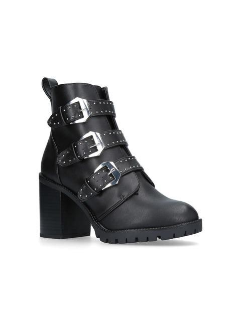 8d3fdb0a3f2 Saxon Mid Heel Biker Boots