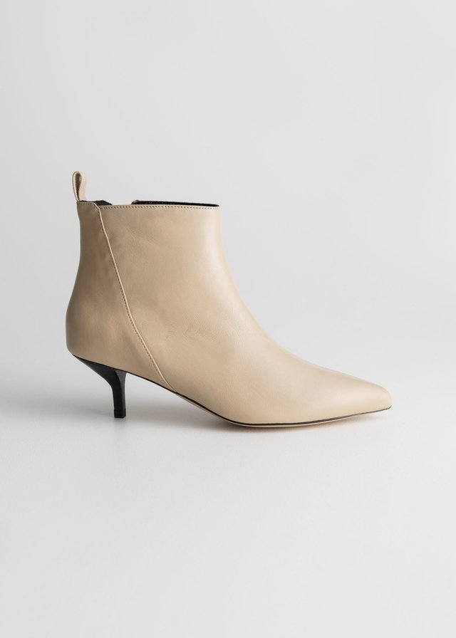1c305ba4160b5 Leather Kitten Heel Boots | Endource
