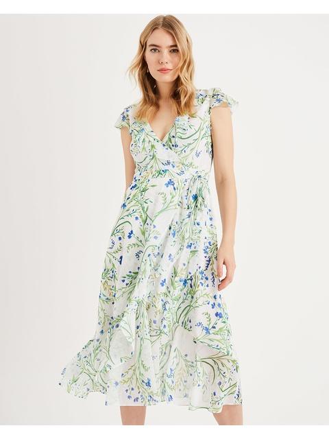 7d26acb0d25b Flavia Floral Wrap Dress