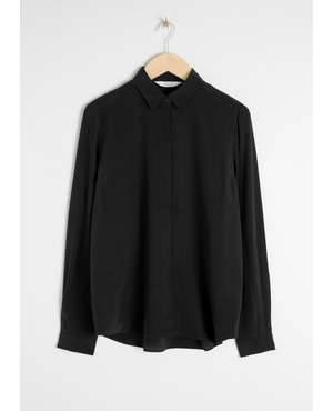 ce878214f6d1f Straight Fit Silk Shirt by   Other Stories