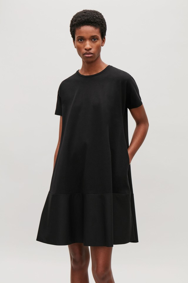 7ee9a31739 Contrast Panel Jersey Dress