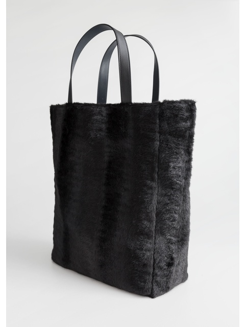 fb81fb28c32f Large Faux Fur Tote