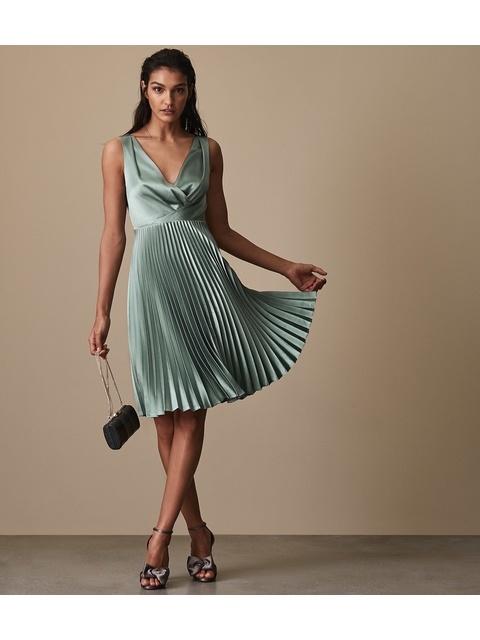 de05c1fc6a43 Alicia Knife-Pleat Midi Dress   Endource