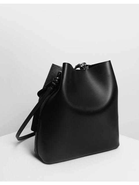 41ff06fefd Tassel Detail Oversized Bucket Bag