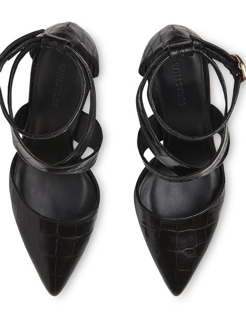 338ba1ee5984 Taylor Croc Cross Marble Heel