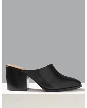 e1119ebb84b Leather Square Toe Slingback Shoes