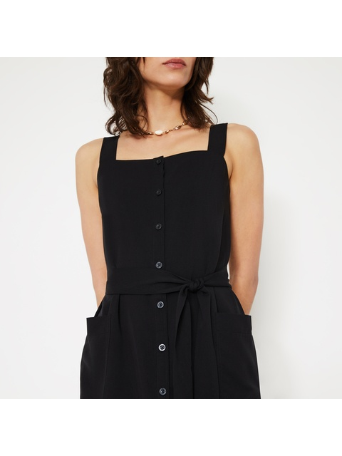 329cb32fd508 Button Mini Pinafore Dress | Endource