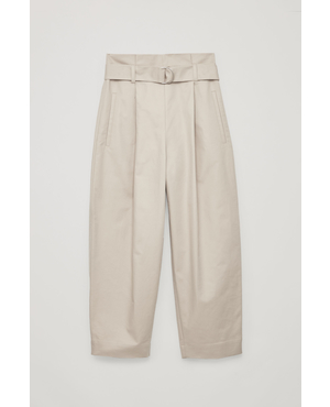 9677d8cec446 Belted Cotton Trousers by COS