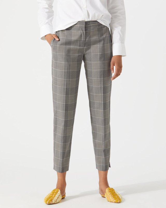 Plaid Wool Portofino Trousers Jigsaw WQa9pF