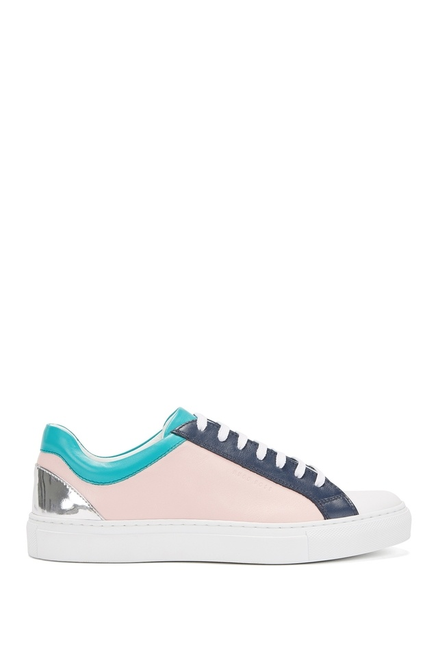Low-top trainers in Italian leather BOSS suiqoN