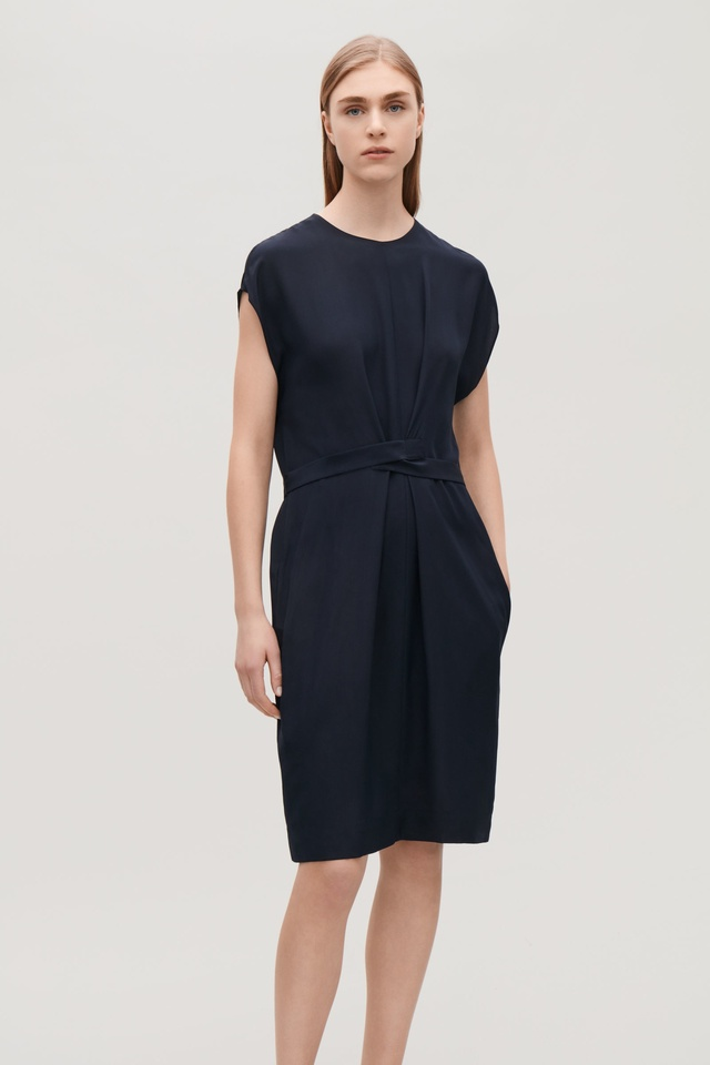 775d989466 Wrap Tie Silk Dress