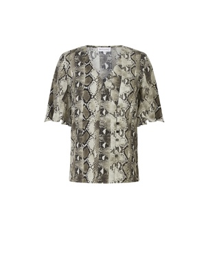 b9411ded8ce5 Snake Print Button Side Top by Warehouse