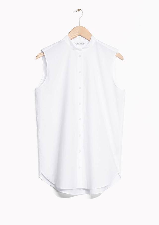 Sleeveless button down shirt endource for Sleeveless cotton button down shirts