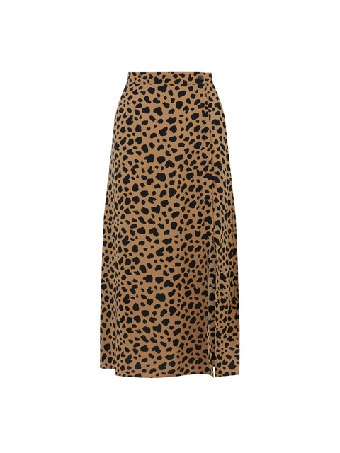 0893849dbb Animal Print Button Side Skirt | Endource