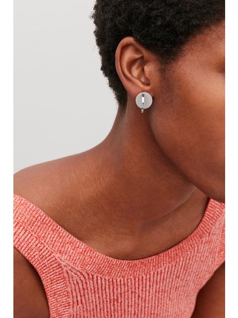 65c69be1e Small Metal-Disc Hoop Earrings | Endource