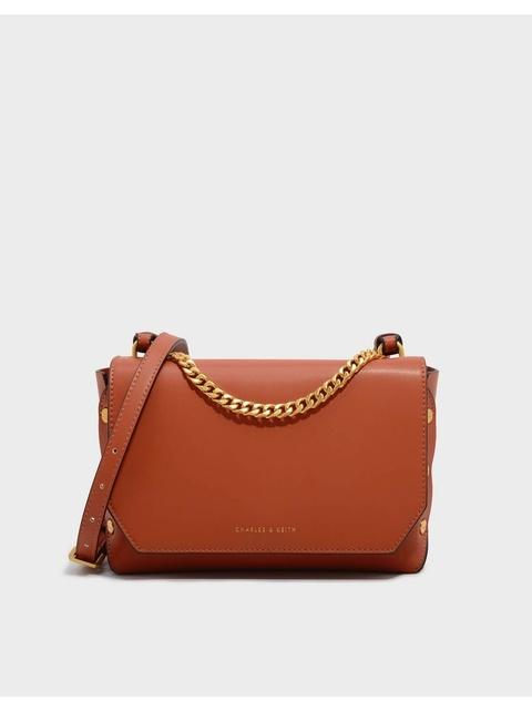 e4d67a6031e Chain Detail Front Flap Bag