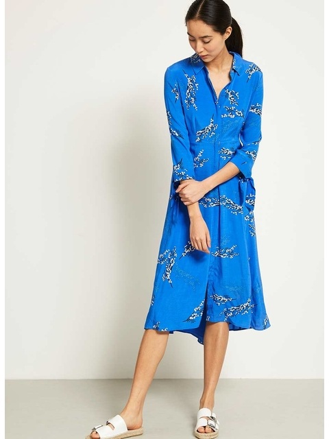 39a7ac7ac9c Blossom Print Shirt Dress