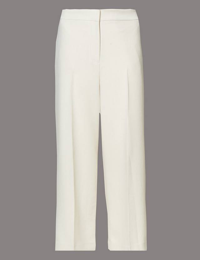 38785f8741063 Cropped Wide Leg Trousers