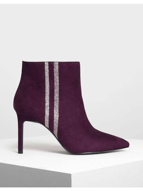 bdb4ecad6 Glitter Stripe Detail Ankle Boots | Endource