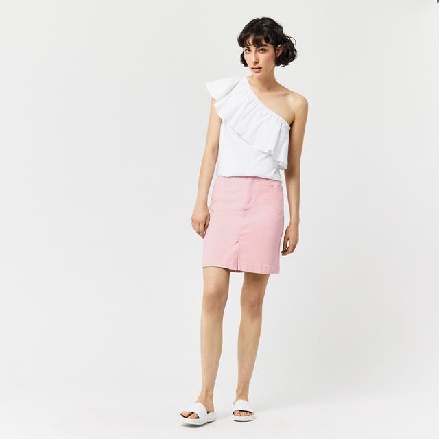 Denim Split Skirt 113