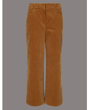 53804cb780a Cotton Rich Textured Corduroy Trousers by Marks and Spencer - Autograph