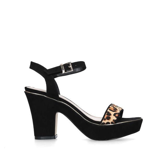 be4299c0b6 Skye Leopard Print Block Heel Sandals | Endource