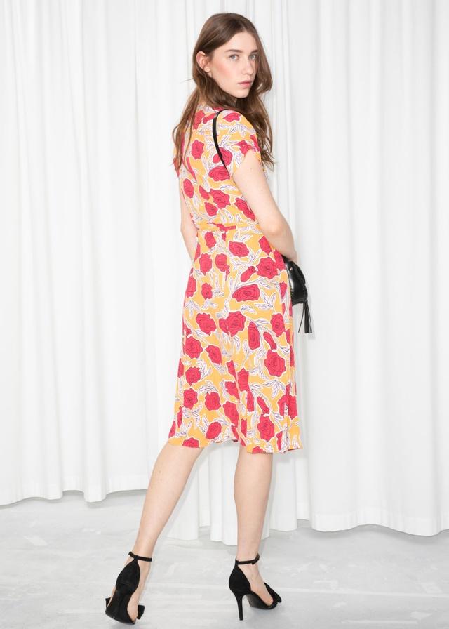 fd8f37f0d6 Striped Linen Blend Wrap Dress   Endource