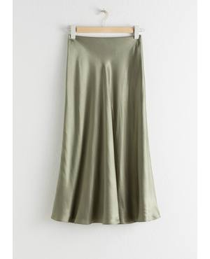 e1ec76031d Flowy Satin Midi Skirt by & Other Stories
