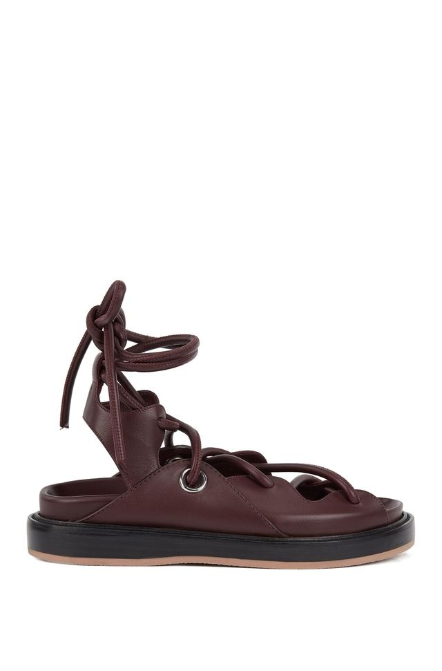 Sandals Endource With Leather Flat Sole Contrast USOwq5ppPx