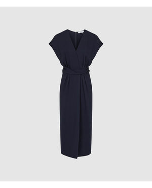 ec60908b436a Maxime Wrap Front Slim Fit Dress by Reiss