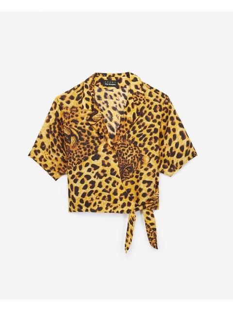 Leopard Print Wrap Top  c3993fcaf