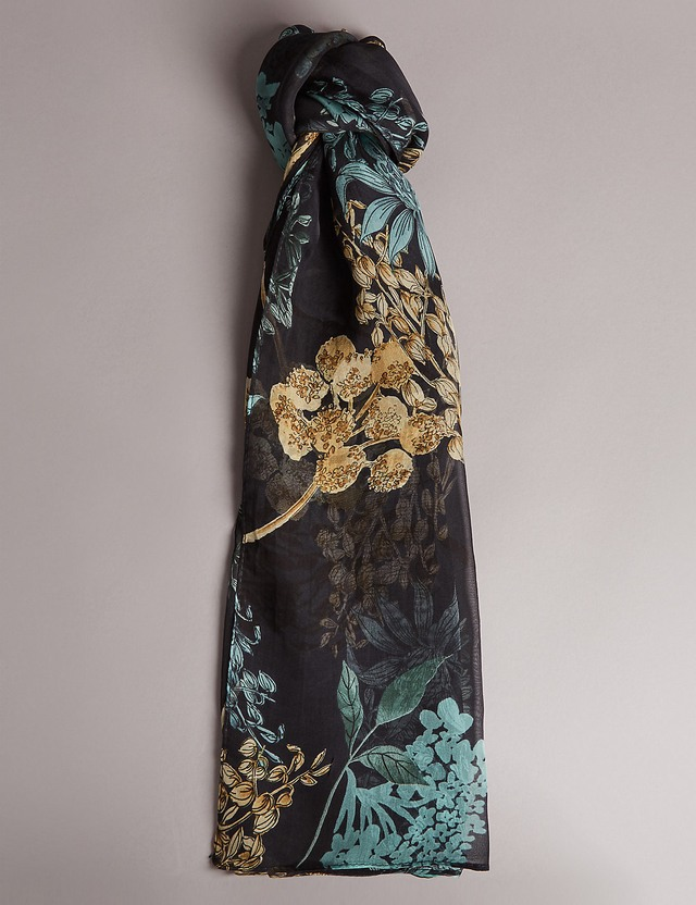 silk floral print scarf endource