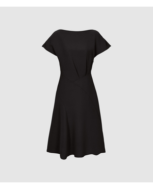 455bb2b4e649 Victoria Capped Sleeve Midi Dress by Reiss