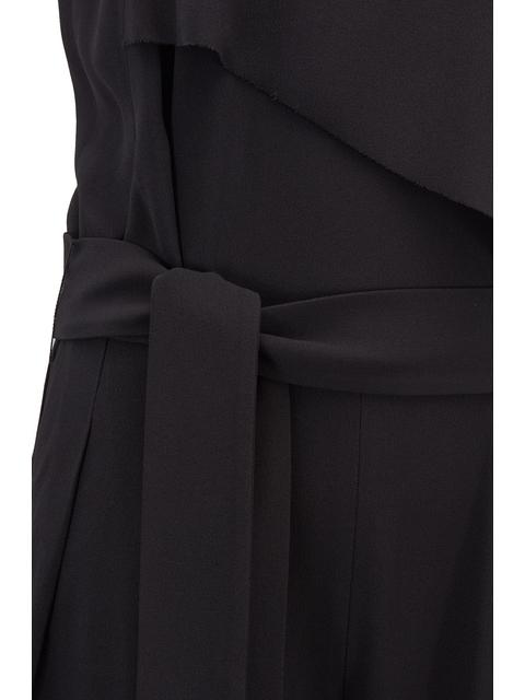 b6467dad4ae Tuxedo-style Satinback Crepe Jumpsuit