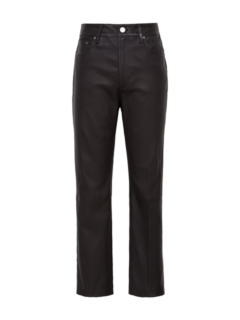 ab2e7616af21 Fi Straight Leg Leather Trousers | Endource