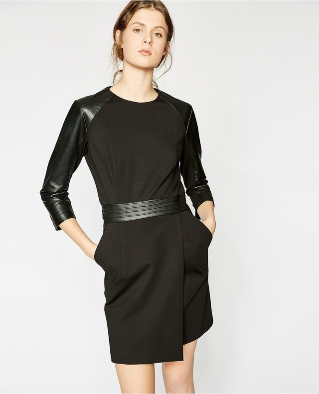 Leather Sleeves Dress Endource