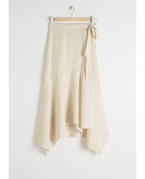 7c43cb5739cdd9 Striped Handkerchief Midi Skirt by & Other Stories