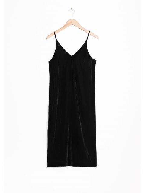 aedda9ea7704 Spaghetti Strap Velvet Dress