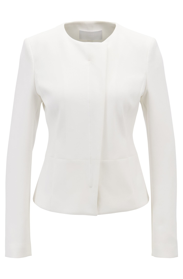 0c64ac51 Collarless Slim-Fit Jacket with Asymmetric Front | Endource