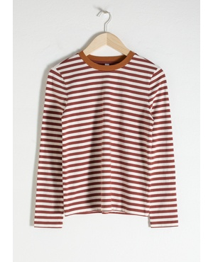ef54a91db & Other Stories Brown Stripes Tops | Endource