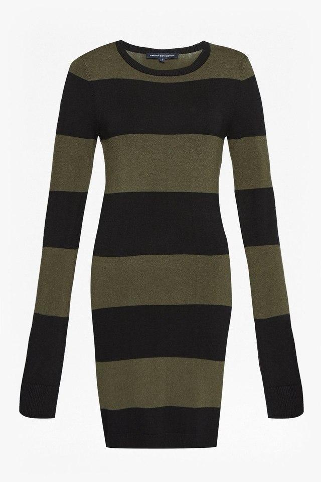 c13c29634fb Rugby Stripe Knit Long Sleeved Jumper Dress