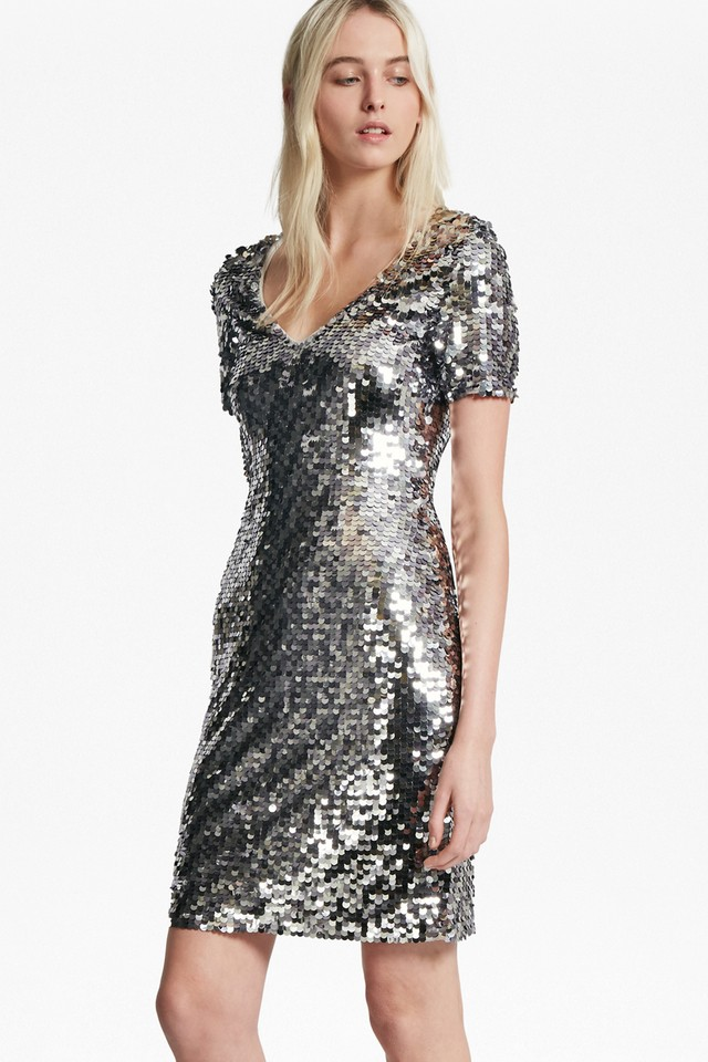 f79a2bc34e7 French Connection Sequin Dress - Dress Foto and Picture