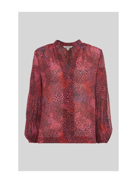 333efd2fd2a6d Abstract Animal Print Blouse