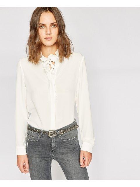 235fb9fe424 Shirt with Ruffled Collar   Endource