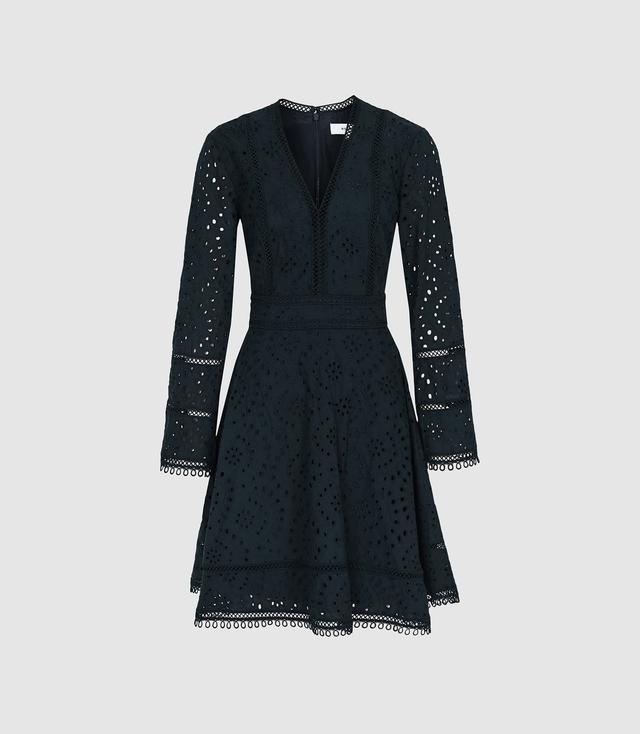 89222d2887 Selina Broderie Ruffle Mini Dress