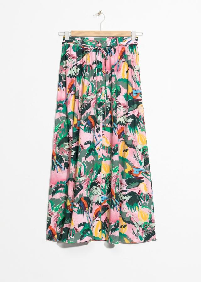 d1f47a6a3ed Tropical Print Maxi Skirt