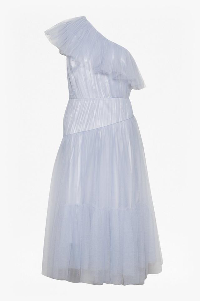 Luna Sparkle One Shoulder Flared Dress Endource