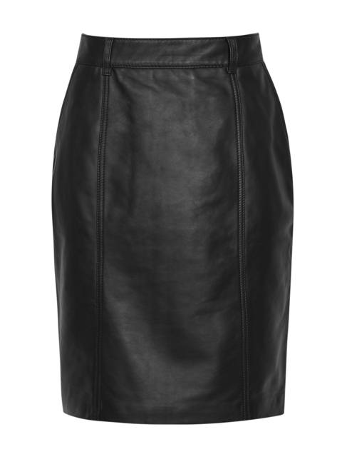 674a9bfb24 Kara Leather Pencil Skirt | Endource
