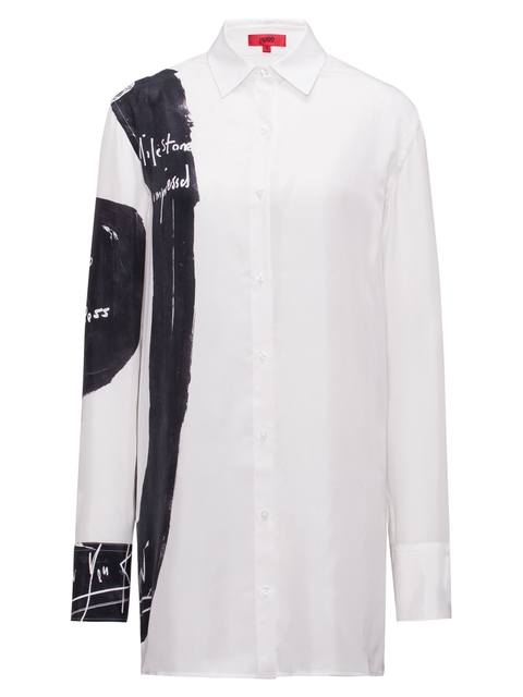 f7edfcdd9 Relaxed-Fit Printed Blouse in Pure Silk | Endource